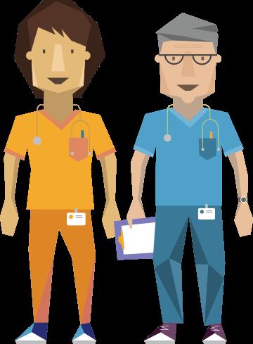 veterinarians in scrubs