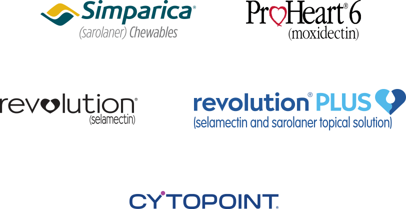 Zoetis Petcare Dosage Reminders participating brands Simparica ProHeart 6 Revolution Revolution Plus Cytopoint